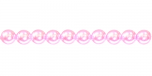 KK361 Ümarad pärlmutter klaaspärlid, Jablonex Tšehhi, 6mm Heleroosa