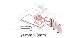 3-fold Binder 24 mm --> 8 mm, KL0435 PRO+