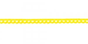 Puuvillane pits 3174-13 laiusega 0,8 cm, värv kollane