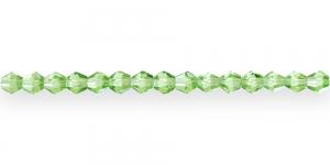 LR91 4mm Roheline läbipaistev topeltkoonusekujuline klaashelmes