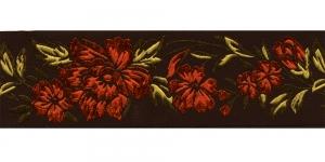 Must, Oranži lillemustriga pael 48 mm, Art. 50096, V8