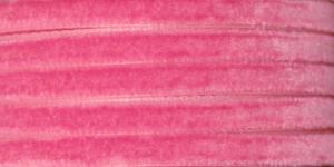 Sametpael laiusega 7,5mm Art.3437R / Velvet Ribbon / Värv Nr.512 Tumeroosa