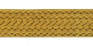 Sissekootud mustriga metallikpael Art.7575/55, 5,5cm, kuldne