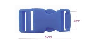 Plastikust pistlukk 56 mm x 28 mm, rihmale laiusega 20 mm, Sinine, UG13