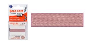100% siidist niit, ø0,45 mm, 2 m, värv: vanaroosa, Beadalon JH02S-PINDK-C