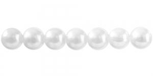 Valge ümar plasthelmes, BI5 12mm