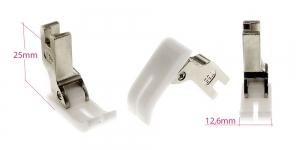 Kõrge kruvikinnitusega (tööstusliku õmblusmasina standard) teflontald, joonõmblustald, 12,6 mm lai KL0803