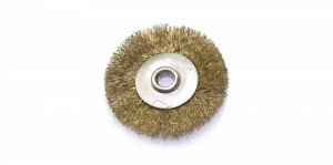 Messingust ketashari, Brass Bristle Jeweler`s Disc Brush, 22 x 2 mm, TK4