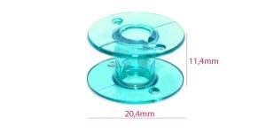 Стандартная пластиковая шпулька (для шпульного колпачка с ушком) синяя