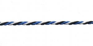 Blue-Black-White Cord ø 3 mm