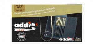 Комплект съемных тунисских крючок для вяазания Addi Click 240-7