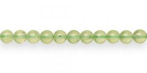 JG3 6mm Helerohelised, naturaalsest rohelisest kvartsist helmed