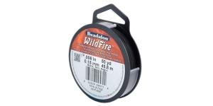 Termiliselt töödeldud tugev niit WildFire ø0,15 mm; 45,8 m, värv: must, Beadalon 161T-008