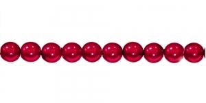 KK365 Ümarad pärlmutter klaaspärlid, Jablonex Tšehhi, 6mm Tumedam punane