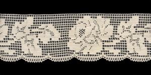 Puuvillane pits 3005-02 laiusega 6,5 cm, värv kreemjasvalge