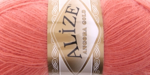 Mohäärisisaldusega lõng Alize Angora Gold, värv 656 tumedam virsikuroosa