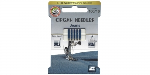 Jeans Needles for Home Sewing Machines, Organ ECO-Pack No.100