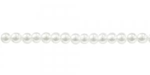 Valge ümar plasthelmes, 4mm, BI20