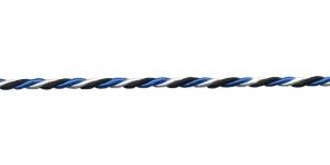Blue-Black-White Cord ø 2 mm