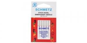 Иглы для домашних швейных машин для вышивания Embroidery, Schmetz №. 75 (11)