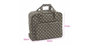 Suurem kandekott, õmblusmasina kott, Linen Polka Dot (PVC), (d/w/h): 20 x 43 x 37cm, Hobby Gift MRB.263