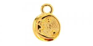 20mm Kuldne, ümar aasaga ripats, EG384