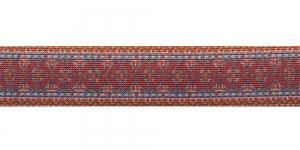 Trükitud mustriga kummipael 30mm / Elastic Band / Värv 613-K Kirju ornament, valgel taustal