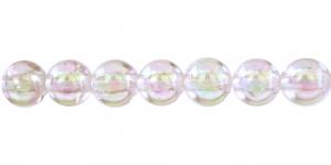 Helekollane läbipaistev AB- kattega ümar plasthelmes, BP36A 12mm