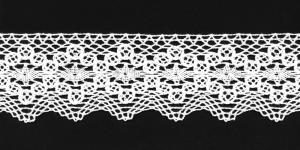Puuvillane pits 1424-01 laiusega 6,5 cm, värv valge