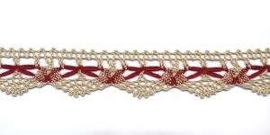 Puuvillane pits 3472-N2 laiusega 3 cm, värv linabeež punasega