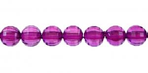 AI3 8mm Tume roosakaslilla läbipaistev tahuline akrüülkristall
