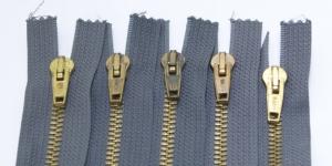 Tõmblukkude komplekt nr.5 Tumehallid, 5tk/kmpl, 15cm-16cm