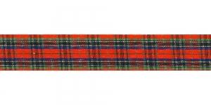 Ruuduline kirju pael, laius 25mm, Art. TT01425-TTN, värv 3, punane, roheline, sinine