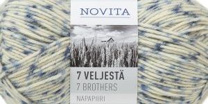 Villasisaldusega sokilõng 7 Veljestä Napapiiri, Novita, värv, 814