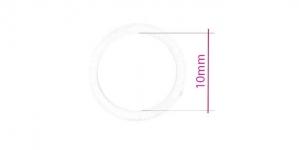UA159, Plastrõngas nn. rinnahoidja rõngas, ø10mm, läbipaistev