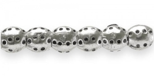 FB3 10mm Hõbedane ümar pandora tüüpi metallhelmes