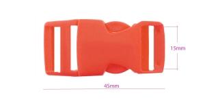 Plastikust pistlukk 45 mm x 21 mm, rihmale laiusega 15 mm, punane, UG6