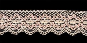 Puuvillane pits 1424-X3 laiusega 6,5 cm, värv loodusvalge roosaga