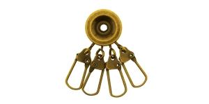 Antiikpronks, karabiinidega võtmehoidja, SHP9