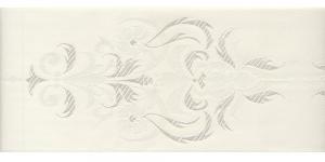 Luksuslik atlaspael sissekootud lillemustriga laiusega 94 mm, Fantastic, Art.94969, Loodusvalge