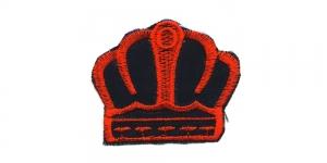 Must punasega kuninga kroon, 6 x 5 cm, AT27