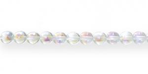 LO174 Ümar klaaspärl, Tšehhi, 8mm, Värvitu läbipaistev AB- kattega