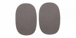 Triigitavad ehk kuumkinnituvad veluurpaigad, 2 tk, 10 cm x 15 cm, Pronty, hallid 078