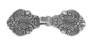 SHA3 Antiikhõbedane Norra haak, paari mõõtmerd: 70mm x 30mm