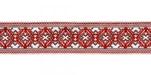 Filigraanse rombimustriga kaunistuspael 35mm, Art.35984FC, värv puna-valge