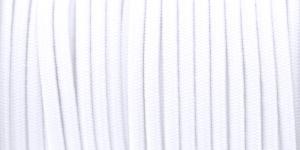 Kumminöör läbimõõduga 3 mm / Värv nr. 1, valge