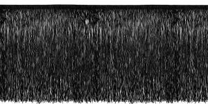 Lihtsad narmad pikkusega 50 cm, värv must