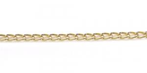 Kuldne alumiiniumkett, 7 x 4 x 1 mm, MA134