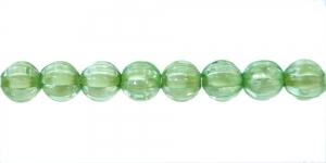 Rohuroheline valge sisuga läbipaistev akrüülhelmes, AA70 7mm