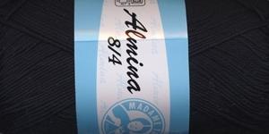 Puuvillane lõng Almina; Värv 999 (Must) / Madame Tricote